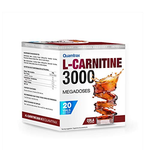 Quamtrax Nutrition L-Carnitine 3000 - 20 viales x 25 ml Apple