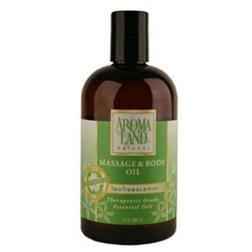 Aromaland Tea Tree & Lemon Massage & Body Oil 12 oz by Aromaland
