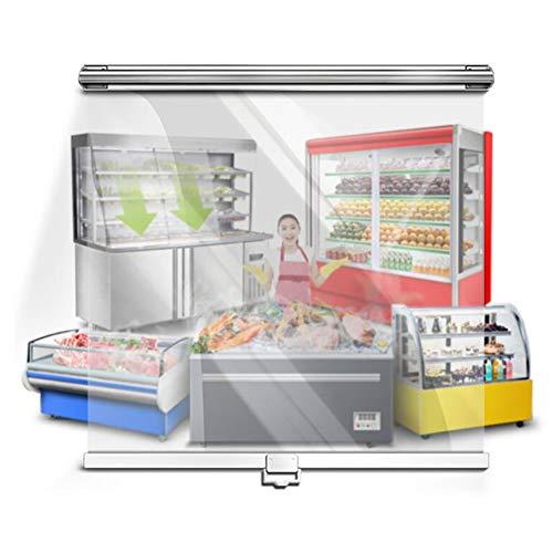 ZLI Persianas Enrollables Persiana Enrollable de Plástico Transparente para Vitrina, Cortina de Baño Ecológica, Impermeable y Resistente al Moho (Size : 60×160cm)