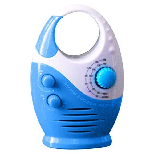 Timetided Duschradios Wasserdicht AM FM Badezimmer Duschradio Tragbarer Lautsprecher Batteriebetriebene einstellbare Lautstärke
