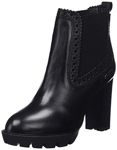 Pepe Jeans London Damen Vernon Chelsea Stiefeletten, Schwarz (Black 999), 37 EU