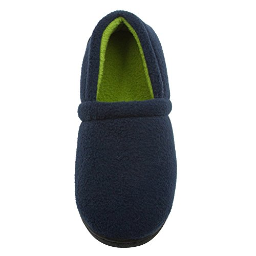 Skysole Boys Fleece Closed Back Slipper with Rugged Outsole Navy 7/8 US Toddler