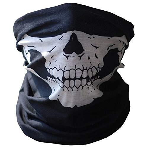 Crrs 2Pcs Skull Face Tube Mask Mehrzweck Motorrad Kopfbedeckung Dehnbare Tubular Mask Biker Snowboards Halstuch