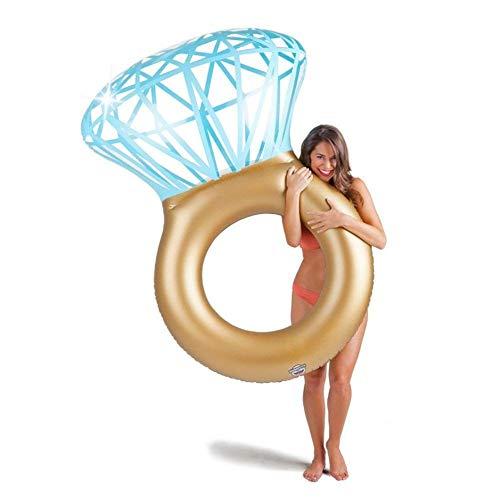 Gcxzb Schwimmreifen Luftbetten Wasser schwimmende aufblasbare Ring Diamantring Floating Zeile Schwimmringmontage Floating Board Aufblasbares Sofa