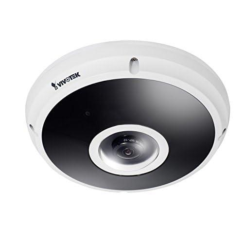 VIVOTEK FE9382-EHV - Telecamera con sensore CMOS da 5 MP, 30 fps, H.265, 20 m, IR, Fisheye, EN50155, IP66, IK10, colore: Bianco