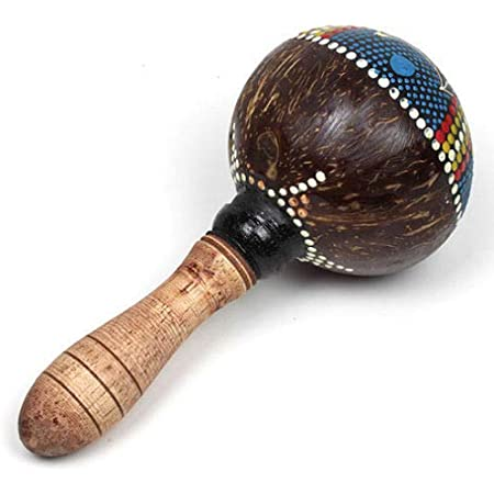 Pintada A Mano Coco Maraca / Rumba Maracas Instrumento