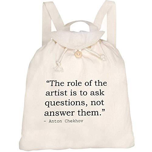 Azeeda Art Quote By Anton Chekhov Canvas Rucksack / Backpack (RK00008406)