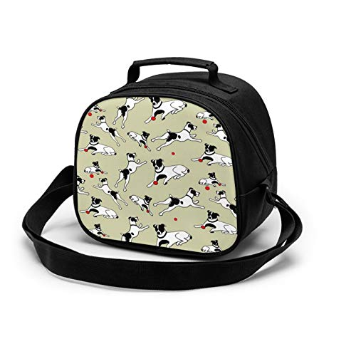 Best Jack Russell Terrier Lunch Tote Lunch Bag Waterproof Reusable Lunch Box Portable Meal Bag Ice Pack For Kids Boys Girls