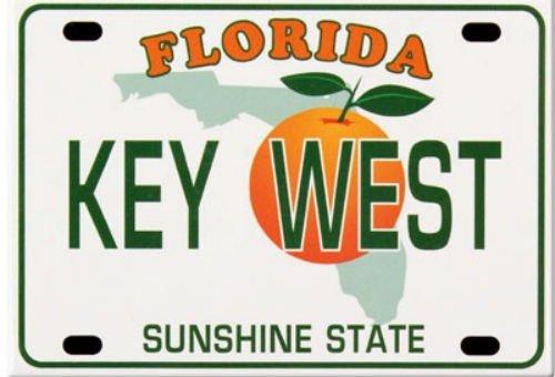 Key West Florida Nummernschild Kühlschrank-Souvenir-Magnet, 6,3 x 8,9 cm