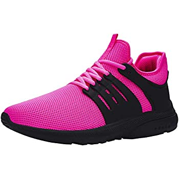 DYKHMILY Waterproof Steel Toe Shoes for Women Lightweight Safety Toe Running Sneakers Slip Resistant Breathable Food Service Work Shoes Puncture Proof 7.5,Pink Peacock,D91815