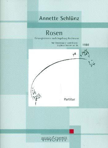 Rosen: Gesangsszenen nach Ingeborg Bachmann. Mezzo-Sopran, Klavier und Logicsynthesizer ad libitum. Partitur.