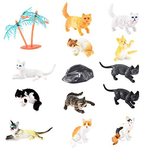 Joyibay 12 Stück Katzenfiguren Kreativ Mehrzweck Katzenfigur Spielzeug Lernspielzeug Für Kinder