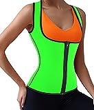DODOING Damen Zipper Sport Waist Cincher Training Unterbrust Korsage Korsett Corsage Sweat Vest Hot...