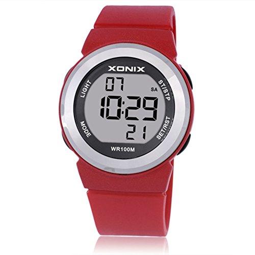 Relojes de Moda de Chicas Lindas/Simple Chicas Ver Peelings/Relojes Digitales Impermeables Infantiles-F