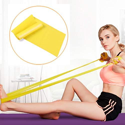 nbvmngjhjlkjlUK Corda per Yoga, Fasce Elastiche in Lattice Elastico, per Yoga, Danza Classica, Pilates, Allenamento a casa e allenamenti Fitness (Giallo, 1,8 m)