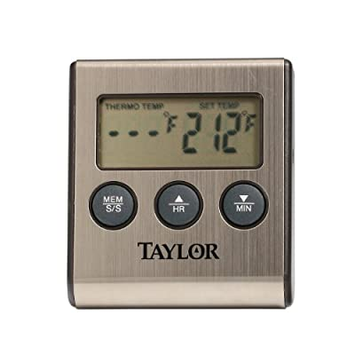 Taylor Precision Products Digital Cooking/Roasting Thermometer with Stainless Steel Housing