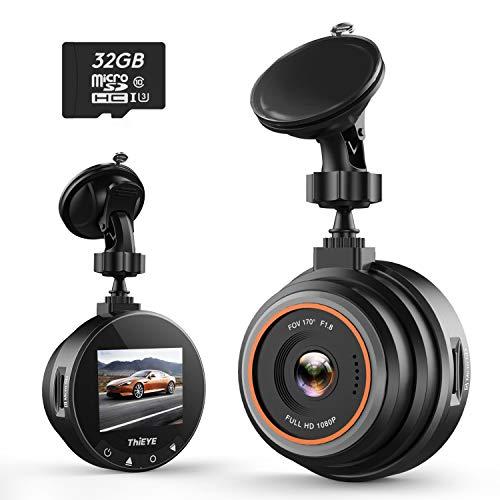Caméra de Voiture ThiEYE Safeel Zero Dashcam FHD 1080P 170° Angle Enregistrement en Boucle Super Vision Nocturne avec G-Capteur,WDR, Détection de Mouvement, Parking Surveillance et Carte SD 32GO
