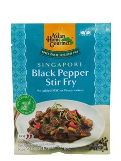 Asian Home National products At the price of surprise Gourmet Spice Paste for Pep Fry: Black Stir SINGAPORE