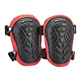 AmazonCommercial Non-Marring TPR Cap Knee Pads, 9.5 in, Black, 1 pair