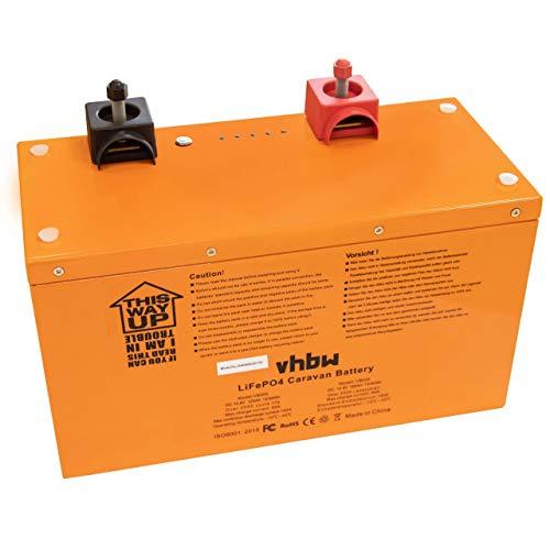 vhbw Akku Bordbatterie passend für Wohnwagen, Boot, Camping, Wohnmobil (120Ah, 12.8V, LiFePO4)