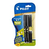 Pilot V7 Hi-Tecpoint Roller Ball Pen with Cartridge System - 2 Black Pens