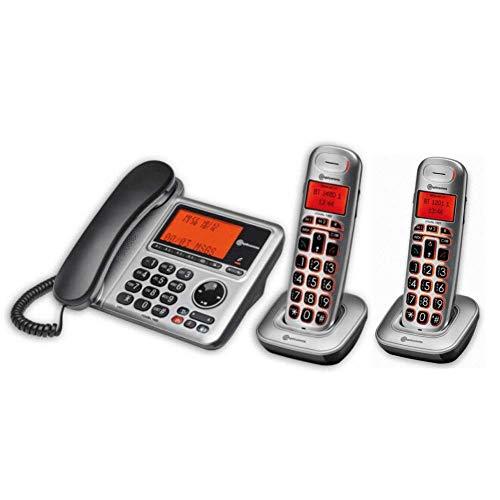Combo BigTel 1480 + un BigTel 1201 - Teléfono AD con Base de Carga