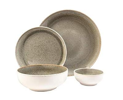 Resona Moss Green 16 Piece Dinnerware Set