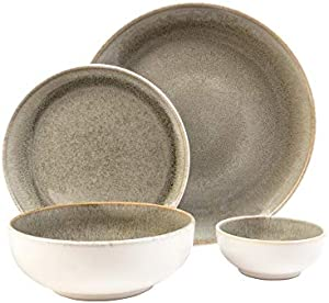 Resona Moss Green 16 Piece Dinnerware Set