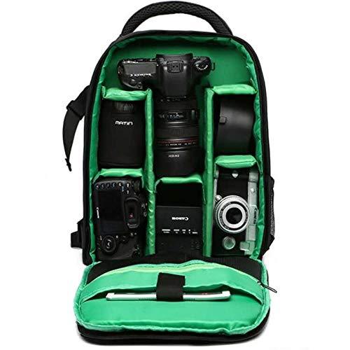 MNSYD Regensicherer Kamera-Rucksack Professionelle DSLR-Tasche Fotografie Laptop-Rucksack für spiegellose Spiegelreflexkamera,Grün