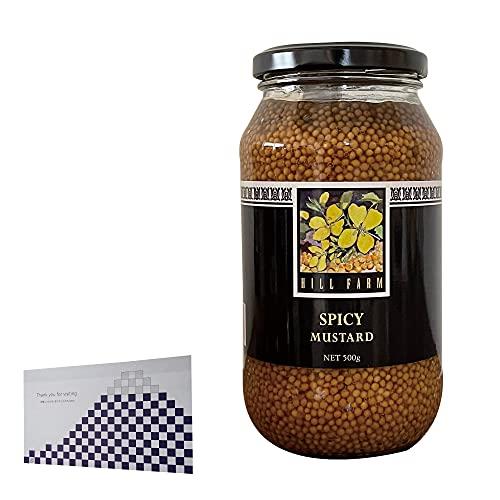 タスマニア マスタード 500g (スパイシー)&おもてな紙セット タスマニアマスタード オーストラリア産粒マスタード 500グラム オーストラリア産