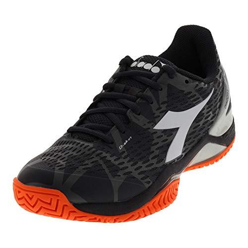 Diadora Mens Speed Blushield 2 Clay Tennis Casual Shoes, Black, 6