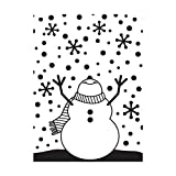 Darice 1216-65 Embossing Folders, 4.25 by 5.75-Inch, Snowman Arms Up...