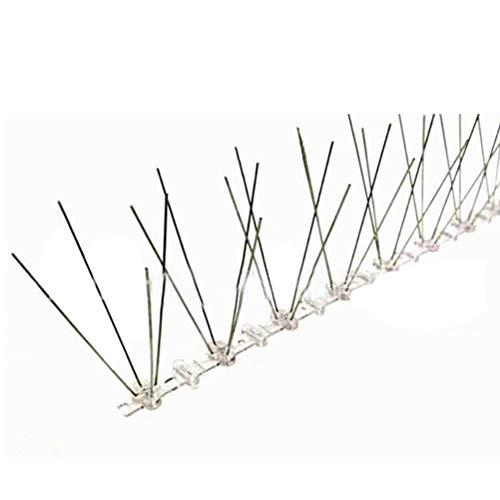 Molinillos repelentes de disuasión de aves, valla repelente de aves Kit de espinas de aves de acero inoxidable para espinas de aves al aire libre, plagas para proteger el jardín, huerto, granj