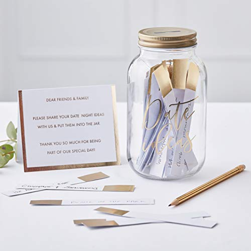 date night jar for bridal showers and weddings