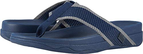 FitFlop Men's Surfer Sandal, Midnight Navy/Charcoal, 10 M US