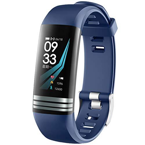 Smart Watch 0.96 Pulgadas Termómetro SmartWatch G26T Smart Watch Impermeable Tarifa cardíaca Temperatura Cuerpo Pulsera Inteligente,C