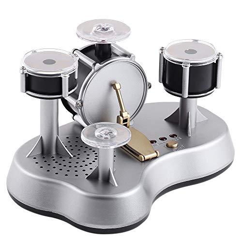 Mini-Finger-Drum Set Drumming LED Light Jazz Percussion-Touch Sensitive Desktop-E-Drumset mit internen Lautsprechern (Color : Gray)