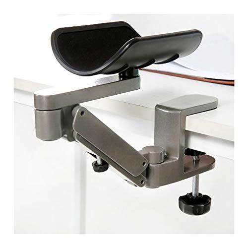 Computer Arm-Stütze, verstellbar, für Handgelenk, ergonomisch, Aluminium-Legierung, am Schreibtisch, für professionelle Computer-Arbeiten,Grau,Anhebbar