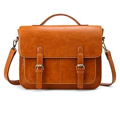 ECOSUSI Messenger Bag PU Leather Laptop Briefca...