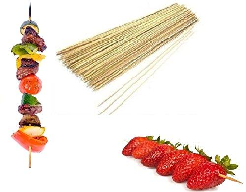Paquete de 200 palos de madera de bambú para barbacoa, brochetas de barbacoa Kebab fuente de chocolate