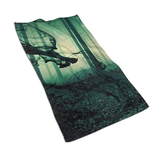N/A Aquarel Print Art Print Schilderij Bad Handdoeken Katoen Handdoek Set Egyptische Katoen Handdoek Set ultra absorberende Reizen Sport Gotische Poe Donkere Horror Macabre Enge Griezelig 27,5 * 15.7in