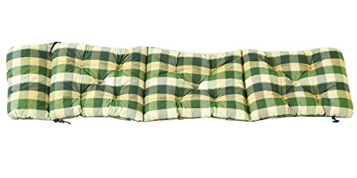 Sparmeile Ambientehome Deckchair Auflage für Liege, kariert grün, ca 195 x 49 x 8 cm, Polsterauflage, Kissen