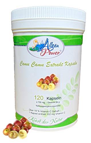 Camu Camu Extrakt Kapseln - 120 Stück a 700 mg - 18,2% Vitamin C Gehalt