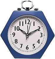 目覚まし時計静かなカチカチ音をたてない目覚まし時計、スヌーズとライトサウンドクレッシェンド電池式ブルー