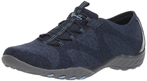 Skechers womens Breathe-easy - Opportuknity Sneaker, Navy, 10 US