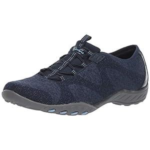 Skechers womens Breathe-easy - Opportuknity Sneaker, Navy, 8 US