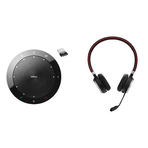Jabra Speak 510+ MS Bluetooth-Freisprecheinrichtung für Microsoft zertifiziert inkl. Link 360 Bluetooth-USB Nano Dongle & Höhere Mobilität mit freien Händen: Erreichbar bleiben mit 30 Meter Bluetooth