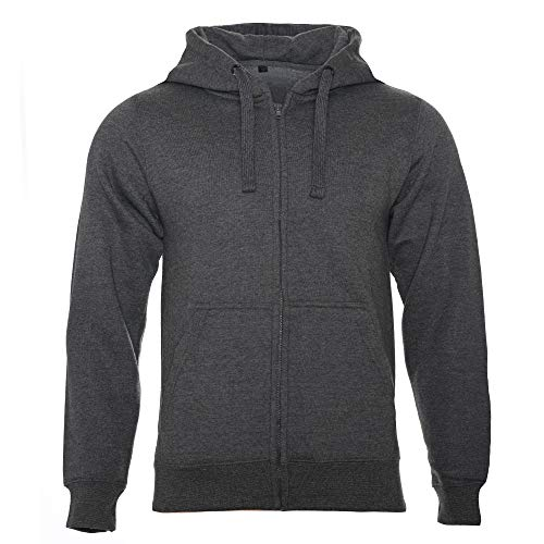 ROCK-IT Apparel® Herren Kapuzenjacke Zipper Hoodie Kapuzen Sweater Jacke Workerhoodie Pullover Hoody Größen XS-5XL - Farbe Dark H. Grau 5XL