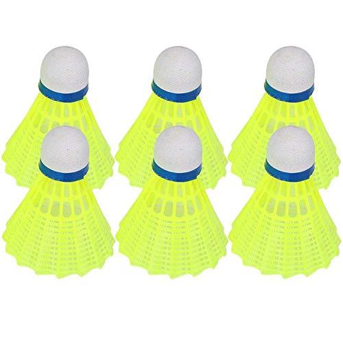 HAOSHUAI Kee nso Badminton Ball 6 pezzi volano palla sport allenamento accessorio interno esterno per allenatori dilettanti principianti