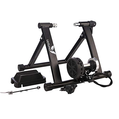 Veltuno Magnetic Indoor Bike Trainer Stand w/8 Speed Level Wire Control AdjusterFoldable amp Lower Noise amp Quick Release Portable Bike Exercise Stand for Mountain amp Road Bikes